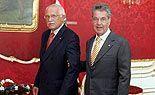 Tschechischer Präsident Klaus kommt nach Wien