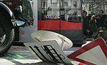 Lkw krachte in Wiener Straßenbahn