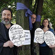 Hans Hurch, Robert Menasse und Barbara Albert als Baumpaten