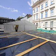 Albertina: Einfache Blechdächer schützen Kunstschätze