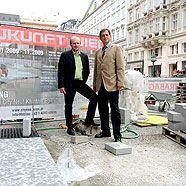 Fußgängerzone in der Wiener City zur Hälfte fertiggestellt