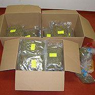 Mehrere Kilogramm Marihuana und Heroin beschlagnahmt