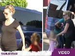Heidi Klum mit dicker Baby-Kugel unterwegs: Kids-Day!