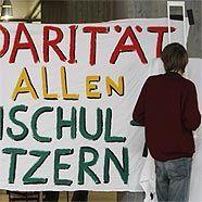 Auch an der Universität in Stuttgart wird gestreikt