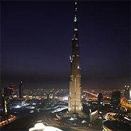 Das demnächst höchste Gebäude der Welt: Der Burj Dubai.