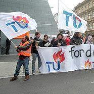 Demonstration der Audimax-Besetzer in einer gemeinsamen Aktionen mit Metallern und Druckern