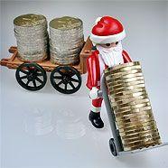 Nicht nur Christkinder, auch Weihnachtsmänner lassen die Spendierhosen lieber im Schrank.