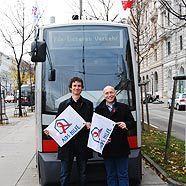 Philipp Dirnberger, Geschäftsführer der Aids Hilfe Wien und Dennis Beck, Obmann der Aids Hilfe Wien.