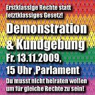 Lesben und Schwule kämpfen gegen Diskriminierung