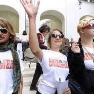 """Studentenproteste: Einzug der """"Drei"""" mit rotem Teppich"""