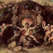 """""""Der Mensch, der sich zwischen Tugenden und Lastern entscheiden muss"""" von Frans Francken II."""
