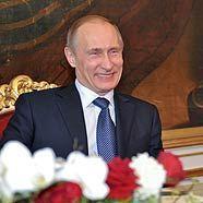 Wladimir Putin mit Bundespräsident Heinz Fischer in Wien