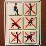 Die kreativsten Toilettenzeichen