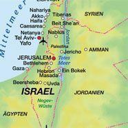 Künstler plakatieren Nahost-Karte ohne Israel