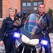 Mitarbeiter der Landesverkehrsabteilung: Daniela Heiss und Andreas Nissel