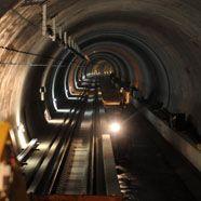 Lainzer Tunnel: Das erste Gleis ist fertig