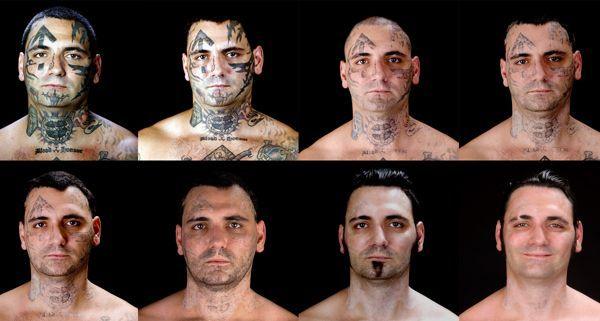 Tattoos bryon widner ließ sich tätowierungen aus gesicht lasern
