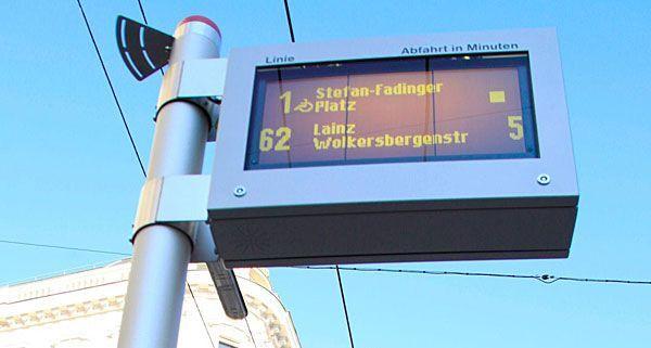 Wiener Linien nehmen 600. Fahrgastinfo-Anzeige in Betrieb.