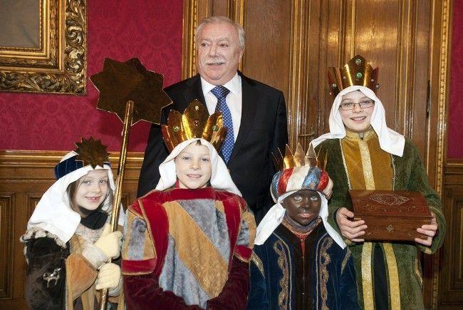 Bürgermeister Michael Häupl beim Empfang der Drei Könige.