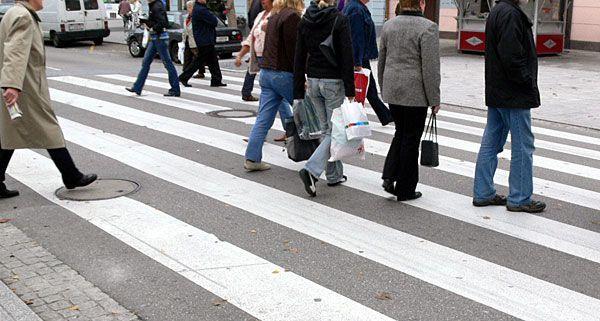 Zahlreiche Fußgänger sind mit den Bedingungen zum Gehen unzufrieden