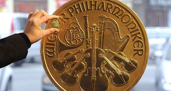 """Die größte Geldmünze Europas """"Big Phil"""" ist derzeit in Wien zu Besuch"""