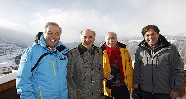 Hermann Schützenhöfer, Erwin Pröll, Michael Häupl und Franz Voves beim inoffiziellen LH-Gipfel