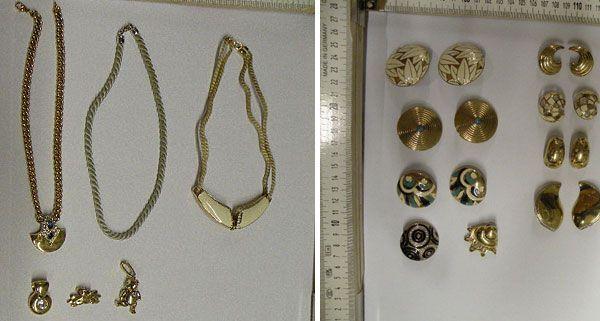 Unter anderem wurden diese Schmuckstücke in einem Gebüsch in Leobendorf gefunden