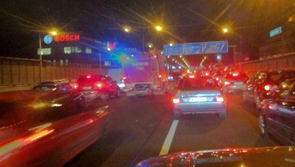 Auf der A23 sorgte ein Auffahrunfall für erheblichen Stau am Donnerstagabend.