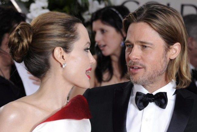 Angelina Jolie mit Brad Pitt bei den Golden Globes.
