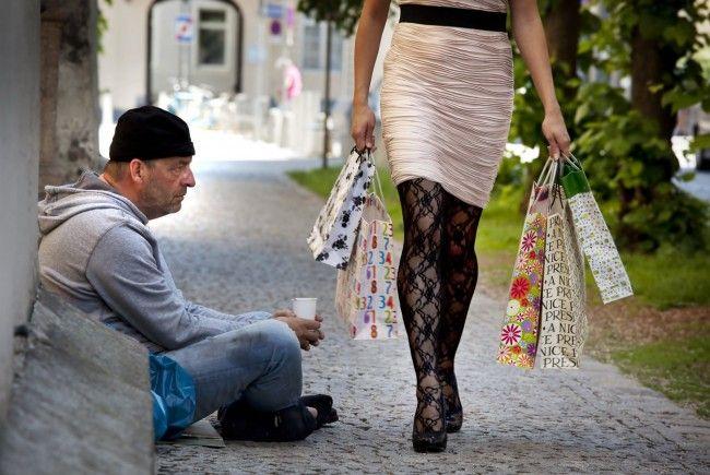 Arm und reich liegt auch in Wien ganz nah nebeneinander.
