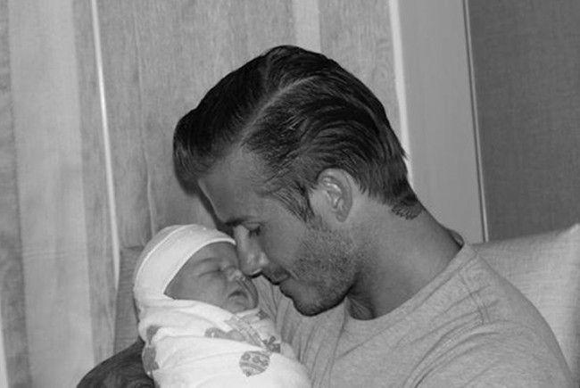 David Beckham und seiner Tochter Harper Seven