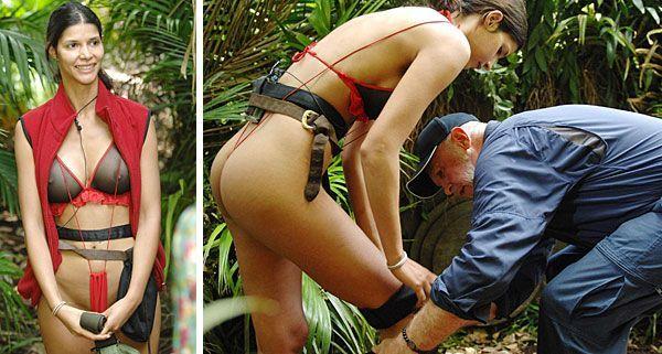 Micaela Schäfer will es wissen. In einem Hauch von Nichts trat sie zur Dschungelprüfung an.