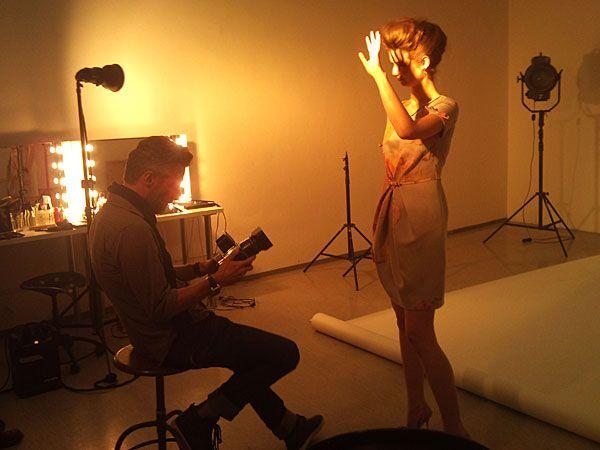 "Eine ""Backstage""-Szene beim Popp & Kretschmer-Shooting"