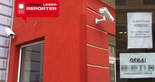 Private Überwachungskameras von Leserreporter in Wien-Neubau gesichtet
