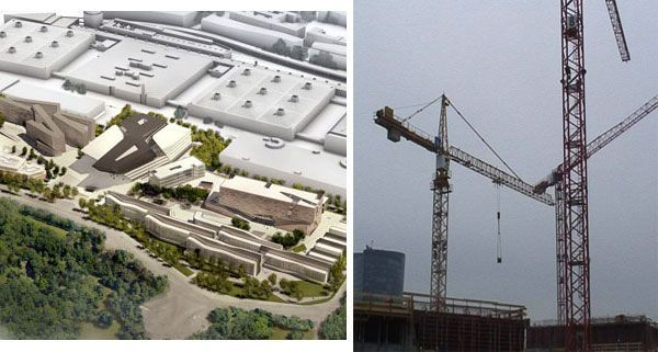 Der Plan der neuen WU bzw. eine aktuelle Aufnahme vom 2.1.2012
