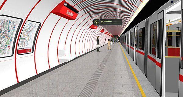 So soll die neue U1-Station Troststraße aussehen