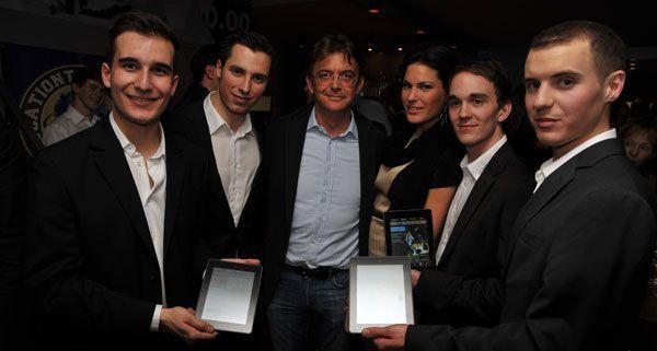 Bestellt wird in Österreichs erstes Tablet-Restaurant, dem Viereck, elektronisch.