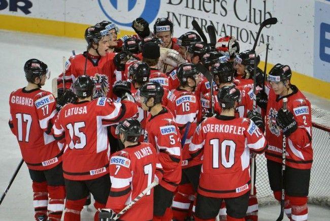 Österreichs Team freut sich über den Aufstieg.