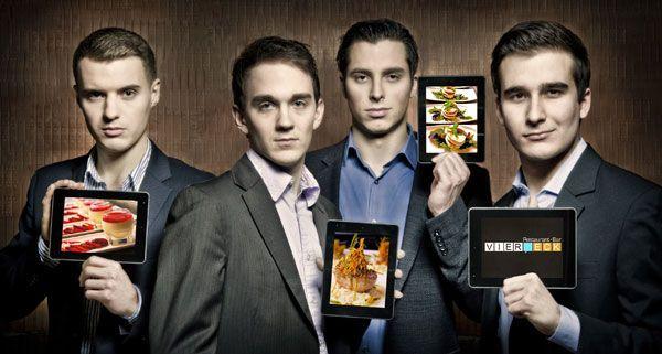Diese vier Jungunternehmer haben Österreichs erstes Tablet-Restaurant in Wien eröffnet.