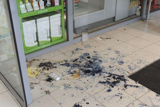 Dieser Bankomat in der Brigittenau wurde gesprengt
