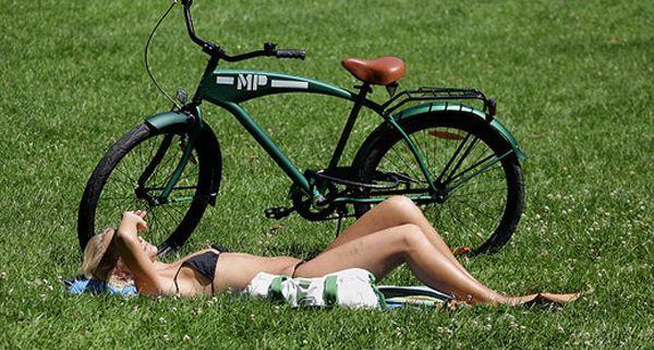 Radfahren im Sommer: Mit den Gratis-Rad-Checks ist man sicher unterwegs