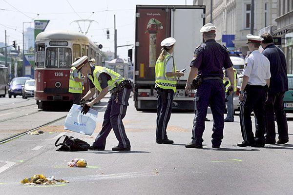 An dieser Stelle der Prager Straße in Floridsdorf geschah der tödliche Unfall