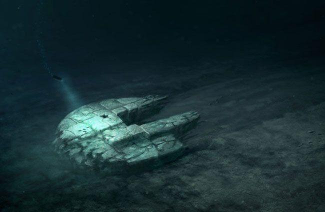 Illustration des von Tauchern in den Tiefen der Ostsee entdeckten Objekts.