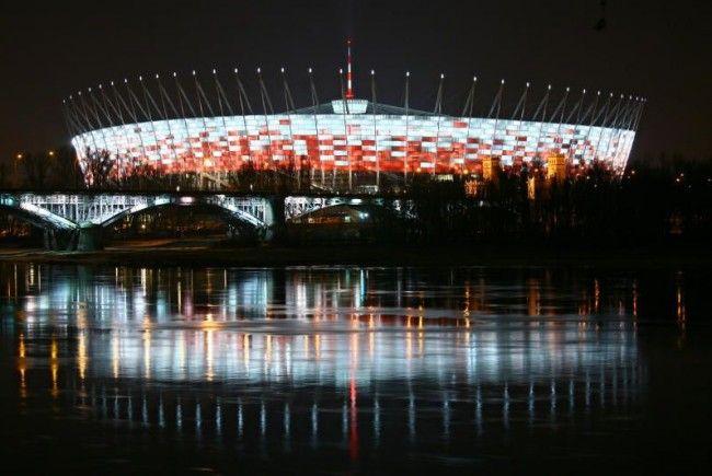Fußball-Stadion in Warschau