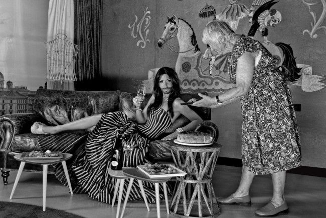 """""""Conchita Wurst"""" by Manfred Baumann ( Ausstellungsbild )"""