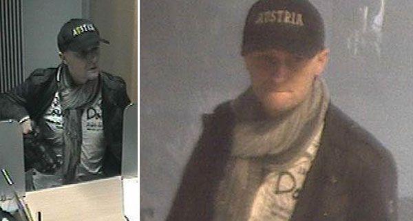 Die Polizei Wien fahndet nach diesem mutmaßlichen Bankräuber.