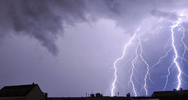 Blitzeinschlag beim Festival With Full Force.