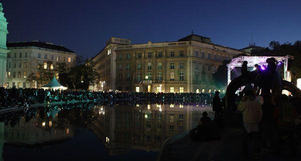 Es soll trocken bleiben am Popfest 2012 - hoffentlich.