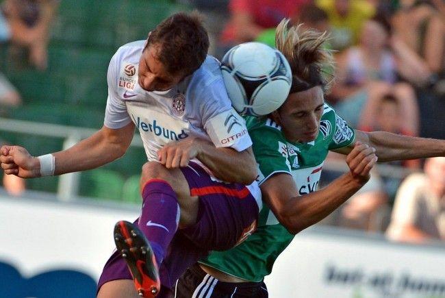 Austria Wien gegen SV Ried: Siegestreffer in der 85. Spielminute.