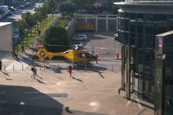 Unser Leserreporter sah, was nach dem Unfall auf der Wienerbergstraße geschah